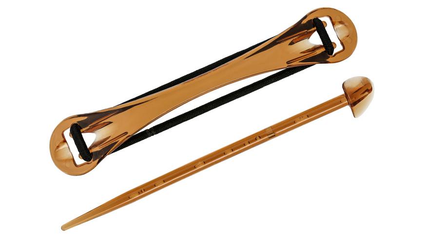 Haarklammer - Clear Brown