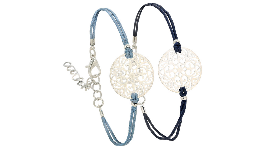 Armband - Silver and Blue