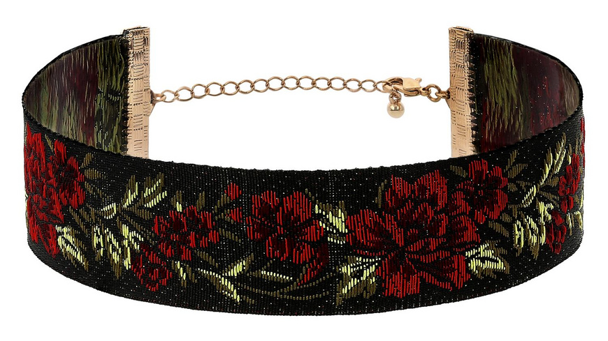 Choker - Red Flower