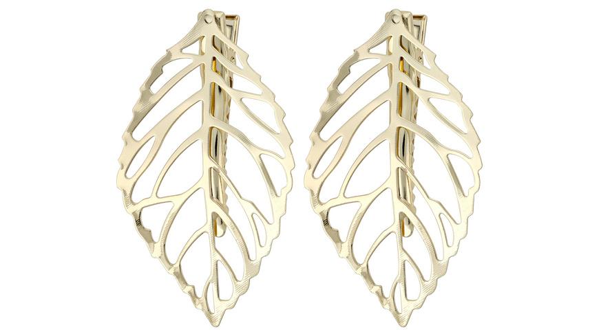 Haarklammer - Golden Leaf