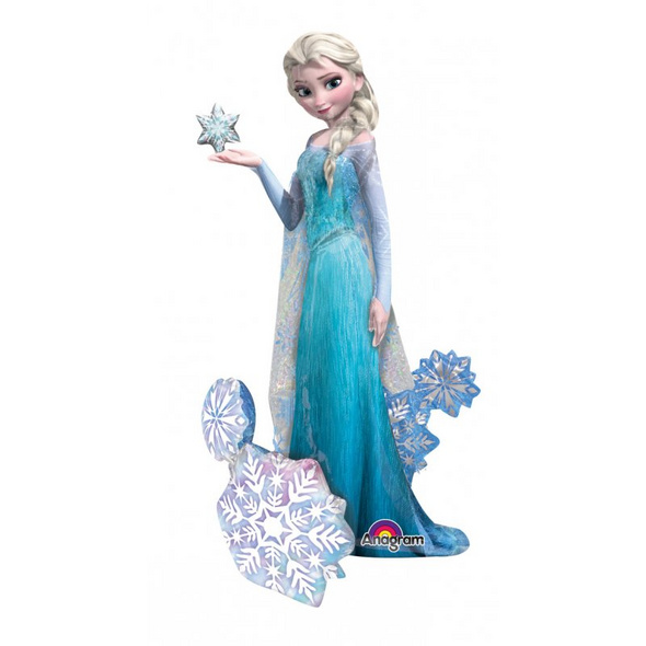 AirWalker Frozen Elsa the Snow Queen Folienballon P93 verpackt 88 x 144 cm