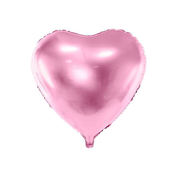 Foil Balloon Heart. 45cm. light pink