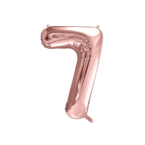 Foil Balloon Number 7, 86cm, rose gold