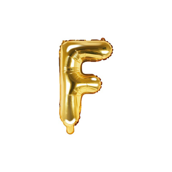 Folienballon Buchstabe F 35cm gold metallic