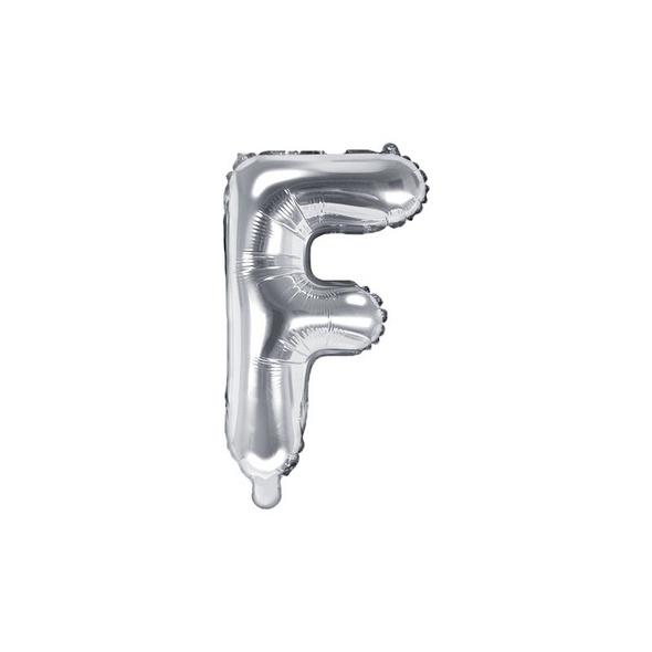 Folienballon Buchstabe F 35cm silber metallic