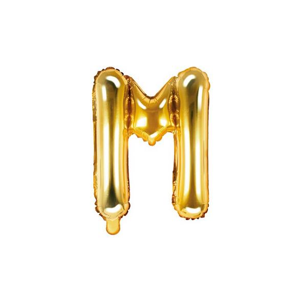 Folienballon Buchstabe M 35cm gold metallic