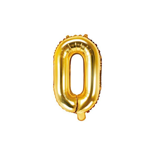 Folienballon Buchstabe O 35cm gold metallic