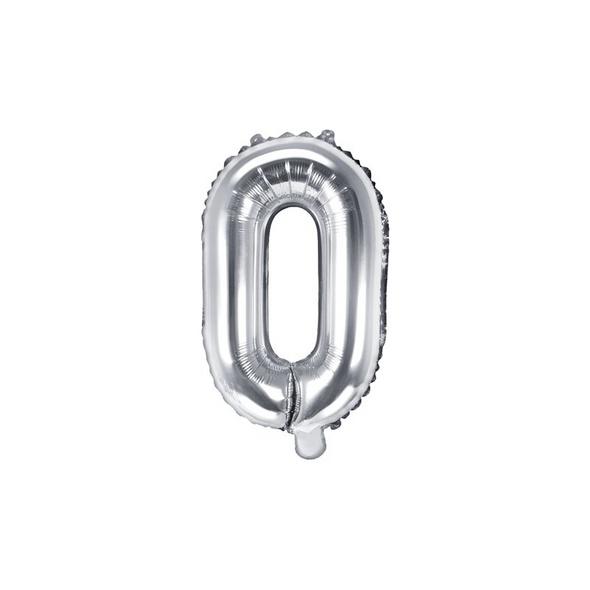 Folienballon Buchstabe O 35cm silber metallic