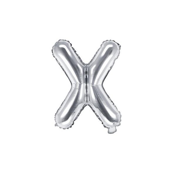 Folienballon Buchstabe S 35cm silber metallic