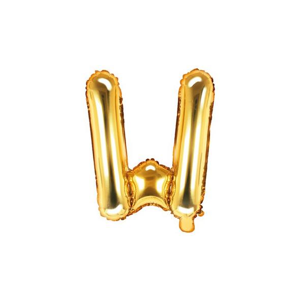 Folienballon Buchstabe W 35cm gold metallic