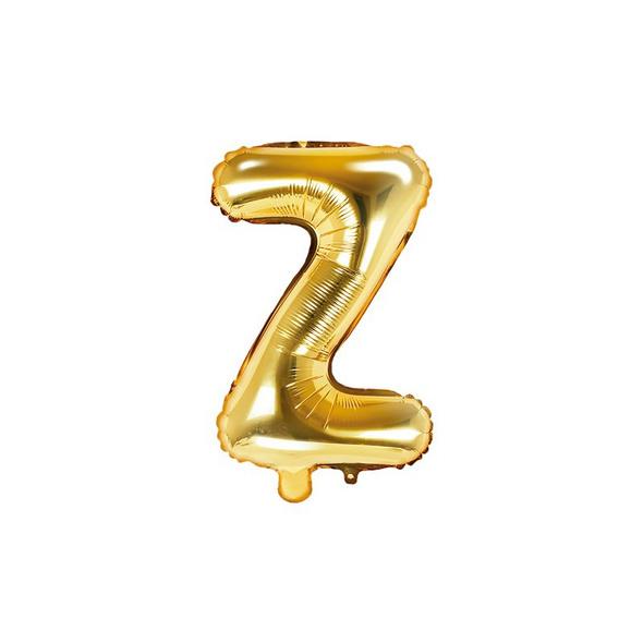 Folienballon Buchstabe Z 35cm gold metallic