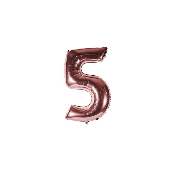 Folienballon Zahl 5 Ziffer Fünf rosé-gold 35cm