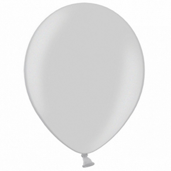 Latexballons 100er Pack silber-metallic Schnee 30cm