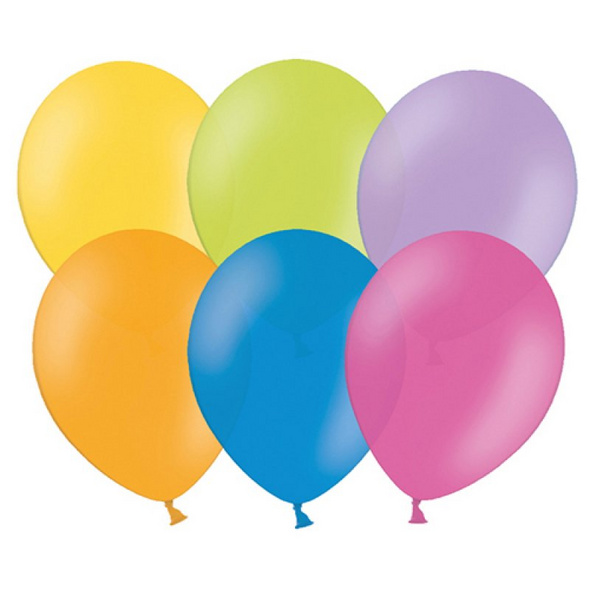 Latexballons 10er Pack pastell bunter mix 30cm