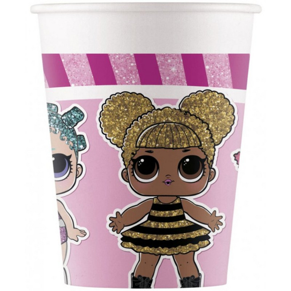 LOL GLITTERATI Paper cups 200ml