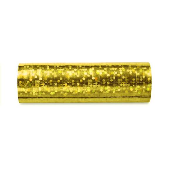 Luftschlangen gold glitzer 3,8m