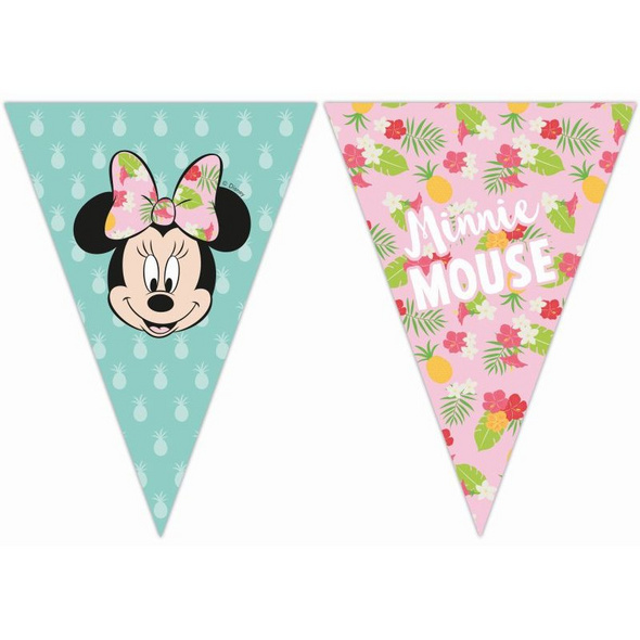 Minnie Tropical Disney 6 Triangle Flag Banner (9 Flags)