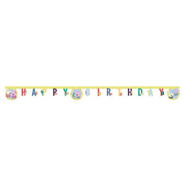 Peppa Pig Messy play 1 Die-cut Happy Birthday banners