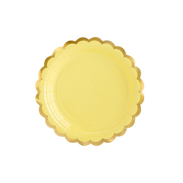 Plates, light yellow, 18cm (1 pkt / 6 pc.)