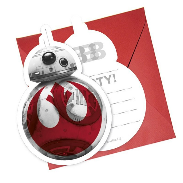 Star Wars Episode 8 6 Die-Cut Invitations & Envelopes