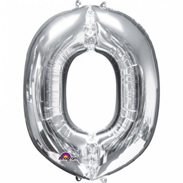SuperShape Buchstabe O Silber Folienballon L34 verpackt 66cm x 83cm