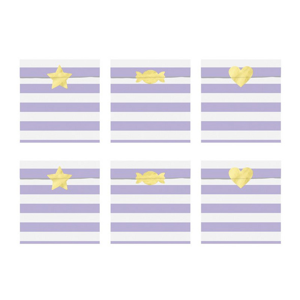 Treat bags Yummy, light lilac, 13x14cm (1 pkt / 6 pc.)