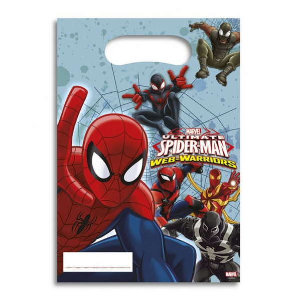 Ultimate Spiderman Web Warriors 6 Party Bags