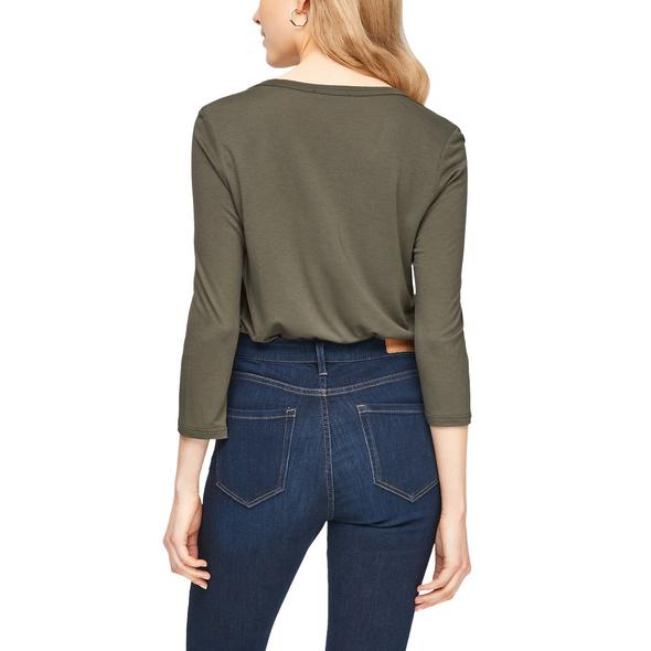 3/4-Arm-Shirt im Fabricmix - Materialmix-Shirt