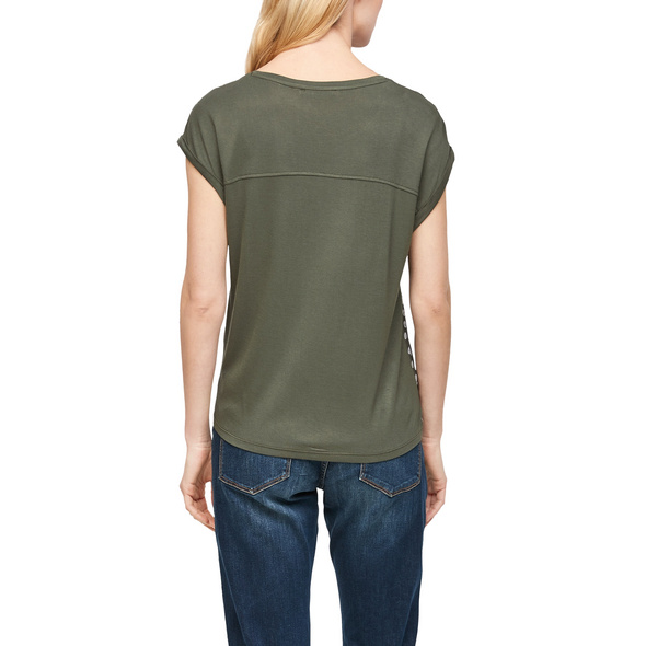 T-Shirt mit Blusenfront - Materialmix-Shirt