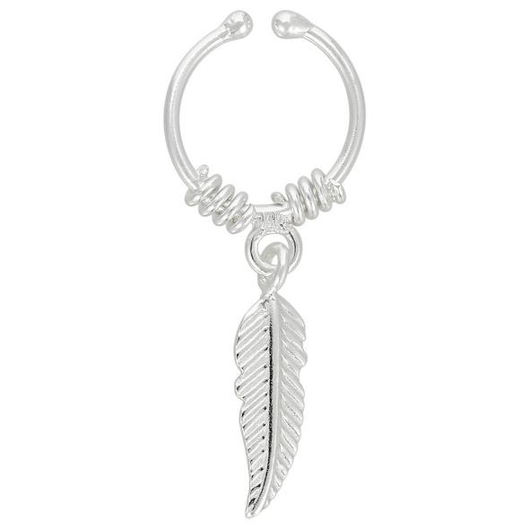 Earcuff - Silver Feather