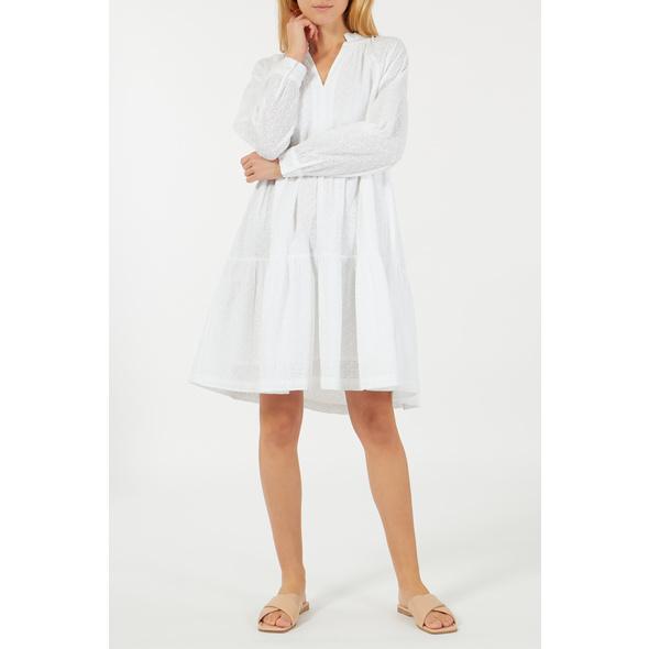 BLOOM Kleid aus Baumwolle mit Lochstickerei