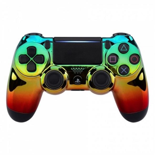 PS4 Dualshock Rebuilt Controller Chrome (Glossy)