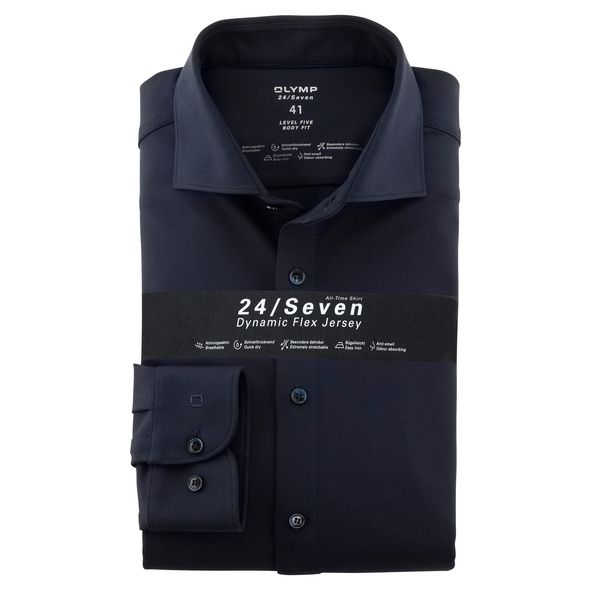 OLYMP Level Five 24/Seven Hemd, body fit, Extra langer Arm