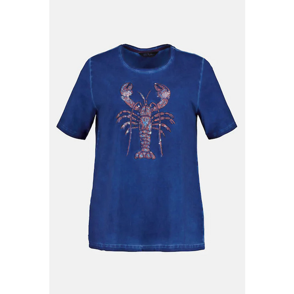 T-Shirt, Pailletten-Hummer, Classic, cold dyed