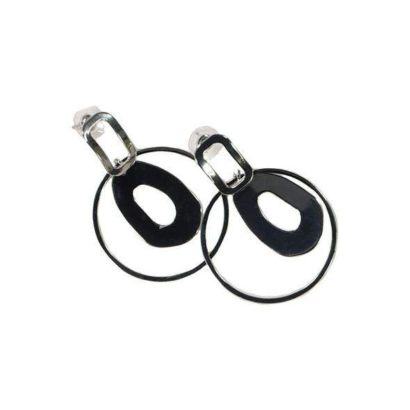 Ohrringe, Kreolen, zwei Ringe