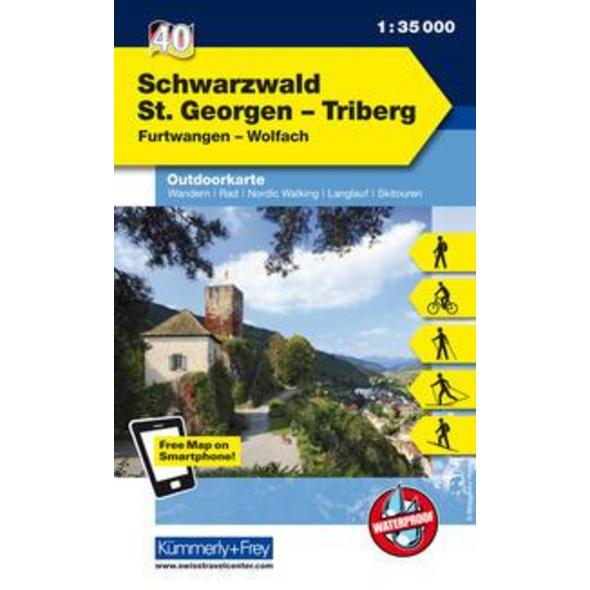 KuF Deutschland Outdoorkarte 40 Schwarzwald