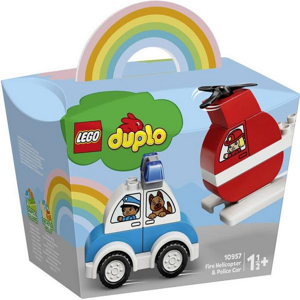 LEGO® DUPLO® 10957 Mein erster Feuerwehrhubschrauber und mein erstes Polizeiauto
