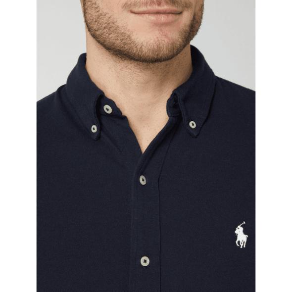 Freizeithemd aus Piqué - Slim Fit