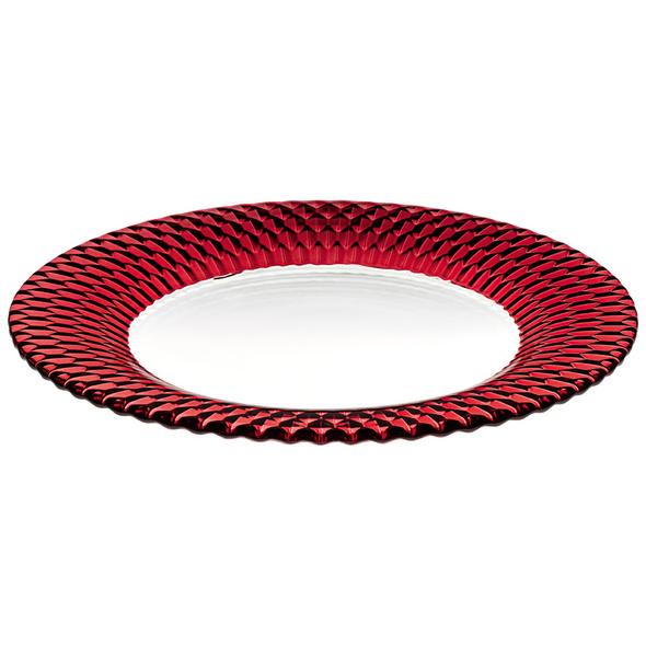 Boston coloured Platzteller red