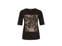 Jerseyshirt mit Pailletten - T-Shirt
