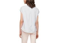 Materialmix-Shirt mit Lochstickerei - T-Shirt