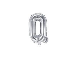 Folienballon Buchstabe Q 35cm silber metallic