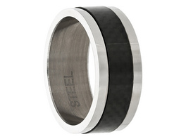 Ring - Silver Carbon