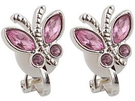 Ohrclips - butterfly / Rosa