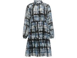 SECOND FEMALE Mini-Kleid Imprint mit Rüschen-Detail