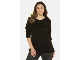 Basic-Shirt, Rundhalsausschnitt, Slim, Baumwolle