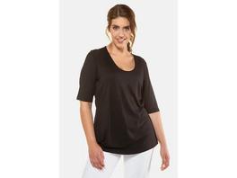 Ulla Popken Shirt, Stretchkomfort, Viskose-Crêpe, selection - Große Größen