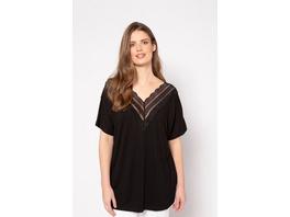 Ulla Popken Shirt, Classic, Ausschnitt und Rücken mit Spitze, Halbarm, selection - Große Größen