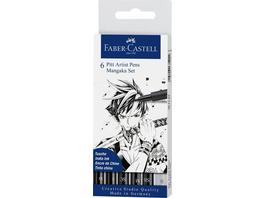 Faber-Castell Tuschstifte Pitt Artist Pens, 6er Set Mangaka