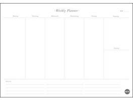 Neutral Weekly Planner A4